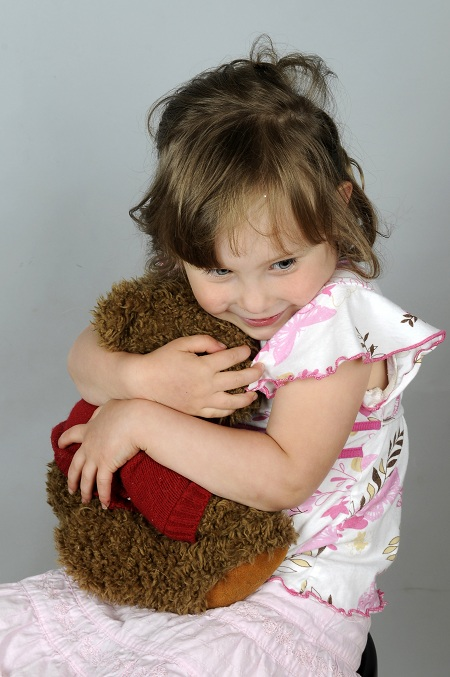 A Little Girl & Her Teddy