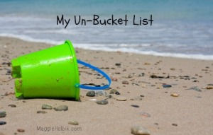 my un-bucket list red