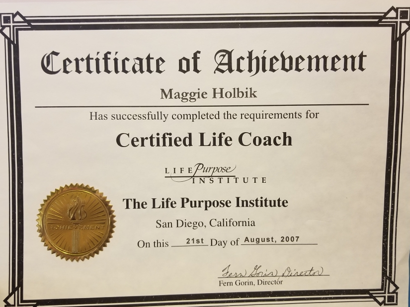 life purpose certificate